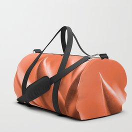 Succulent Leaves Coral Color #decor #society6 #buyart Duffle Bag