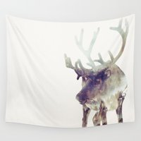 reindeer Wall Tapestries featuring The Reindeer  by Daniel Taylor