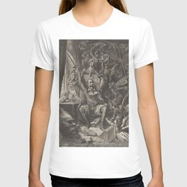 Don Quixote reading chivalric romances knight-errant T-shirt