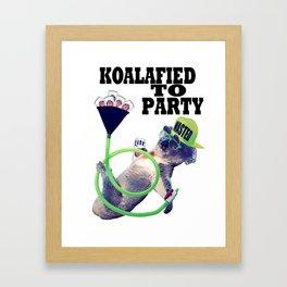 koalafied to party Framed Art Print