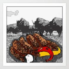 Bullsausages Art Print