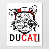 ducati Canvas Prints featuring duCATi by Tomasz Stasiak