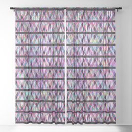 Geometric Glossy Pattern G330 Sheer Curtain