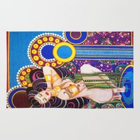 klimt Area & Throw Rugs featuring African Klimt by Morgan Fay