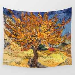 The Mulberry Tree by Vincent van Gogh Wall Tapestry