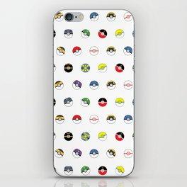 Cute Pokeball Pattern iPhone Skin