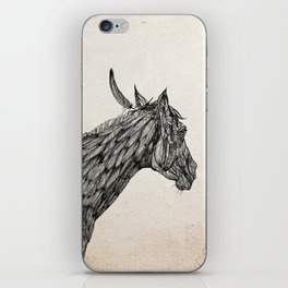 Feather Horse  iPhone Skin