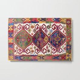 Adana Kilim South East Anatolia Antique Tribal Rug Metal Print