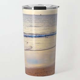 Relaxing Time on the Beach Sunday Afternoon Travel Mug