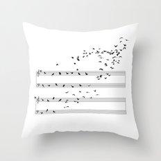 Natural Musical Notes Throw Pillow