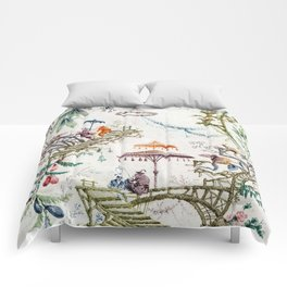 Enchanted Forest Chinoiserie Comforters
