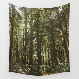 Deer in Olympic Forest Wall Tapestry