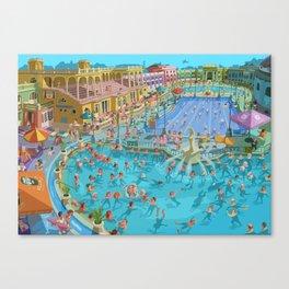 Szechenyi bath Budpest Canvas Print