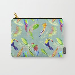tropical pattern with bird parrot and toucan Carry-All Pouch