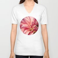dahlia V-neck T-shirts featuring Dahlia  by A Wandering Soul