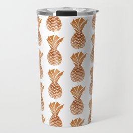 Copper Pineapple Pattern Travel Mug