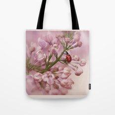 Ladybird on Lilacs Tote Bag