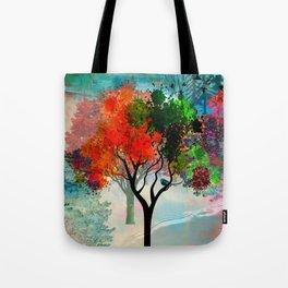 Lavish Abstract Landscape Tote Bag