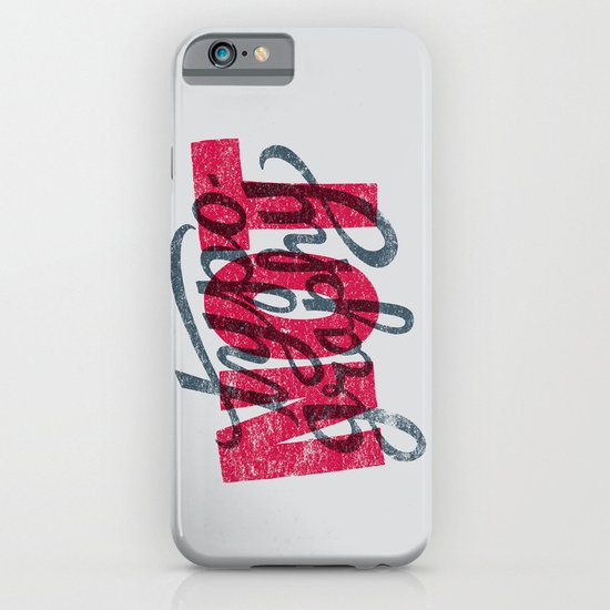Not Typography iPhone & iPod Case