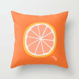 Grapefruit Slice Throw Pillow