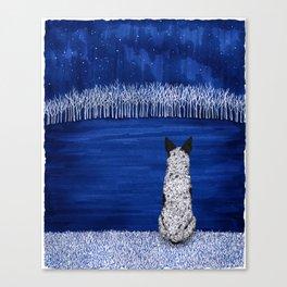 Blue Forest, Starry Sky (Blue Heeler) Canvas Print