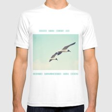 Come fly with me, let's fly, let's fly away White Mens Fitted Tee MEDIUM