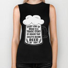 beer bread hops malt binge drinking funny gift Biker Tank