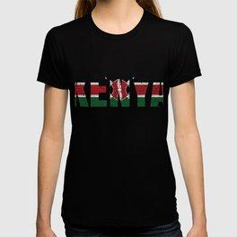 Kenya Flag Vintage Kenyan National Country Gift T-shirt