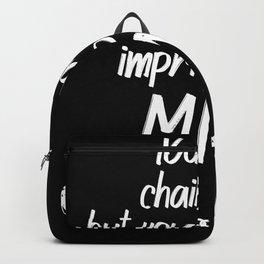 Mahatma Gandhi Quote Freedom Mind Inspiration Backpack
