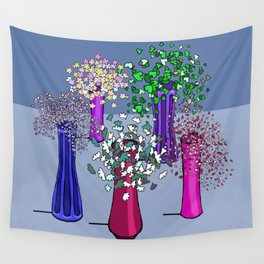 Cascade Flowers Wall Tapestry