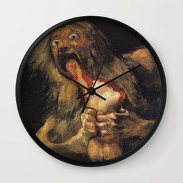 SATURN DEVOURING HIS SON - GOYA Wall Clock
