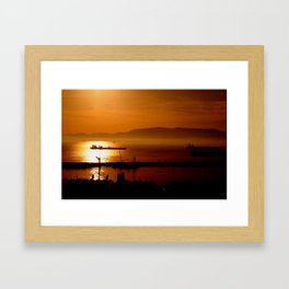 Gibraltar sunset Framed Art Print