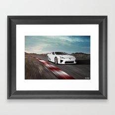 Lexus LFA Track Framed Art Print