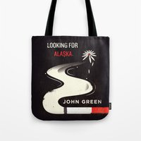looking for alaska Tote Bags featuring Looking for Alaska by Risa Rodil