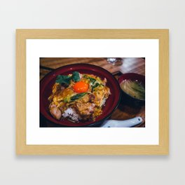 Oyakodon - Japan always in your hands Framed Art Print