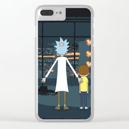 Morty and Rick Club Fight Clear iPhone Case