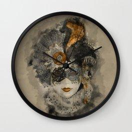 Venetian Mask 2 Wall Clock