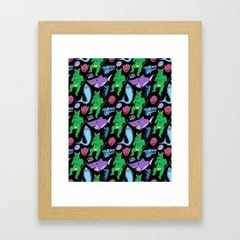 Monster Spread Framed Art Print