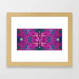 Octopus Kaleidoscope  Framed Art Print