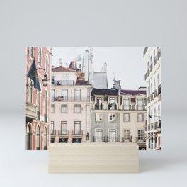 Pastel Streets of Lisbon   Portugal travel photography   whimsical fine art photography   saige ashton prints Mini Art Print