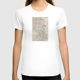 Beautiful Map of the Lower Mississippi River T-shirt