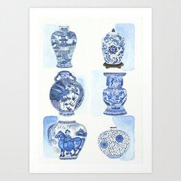 Chinese vases Art Print
