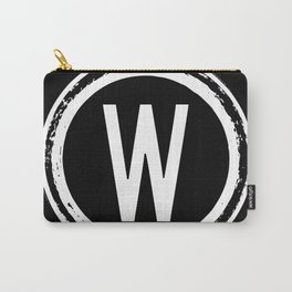 Letter W Monogram Carry-All Pouch