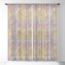 Henkelii Leaves Autumn Sheer Curtain