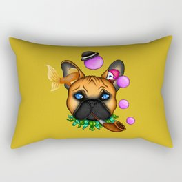 Drunk Dog (yellow) Rectangular Pillow