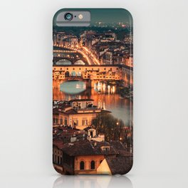 ponte vecchio in florence iPhone Case