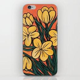 Yellow Crocuses iPhone Skin