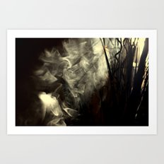 Sunlight, shadows and smoke. Art Print