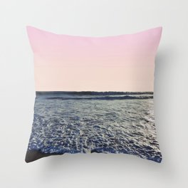 When The Waves Kiss The Shore Throw Pillow