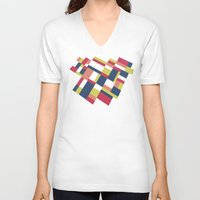 matisse V-neck T-shirts featuring Map Matisse Stretched by Project M